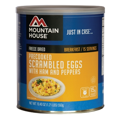 Mountain House #10 Scrambled Eggs w/ Ham