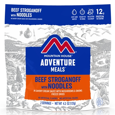 Mountain House Stroganoff with Beef & Noodles - Double Serving