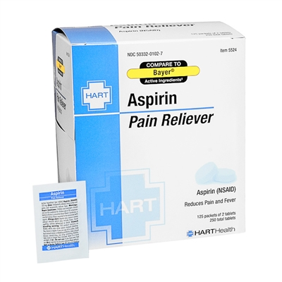 Aspirin - 250 Tablets