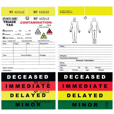 Triage Tag - Each