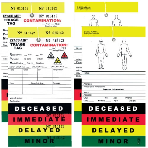 50 Pack Triage Tags | Color Coded for Mass Casualty Triage