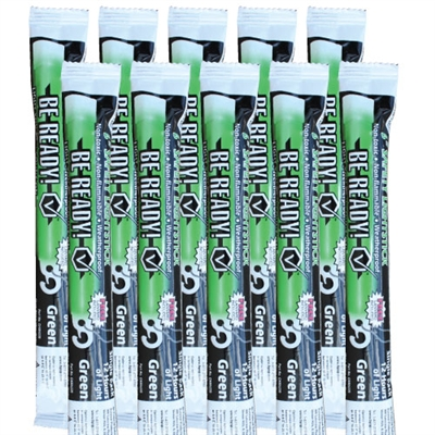 Light Stick - 12-Hour - Green - 10-Pack