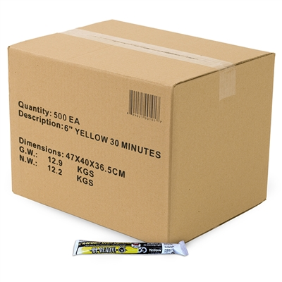 Light Stick - 30 Minute High Intensity Yellow - Case