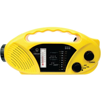 Solar/Handcrank Radio/Flashlight