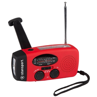 Crank/Solar Flashlight & Radio
