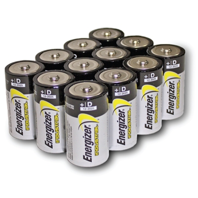 Energizer D Alkaline Batteries - 12-Pack