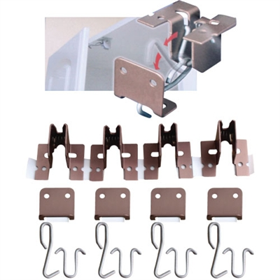 Cabinet Door Seismic Latches - 4-Pack