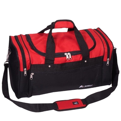 "Duffel Bag - 22 1/2"" L - Red & Black"