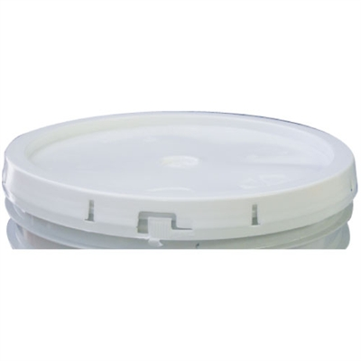 White Tear-Tab Gasketless Plastic Pail Lid