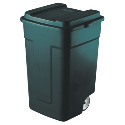 Trash Can with Wheels - 50-Gallon